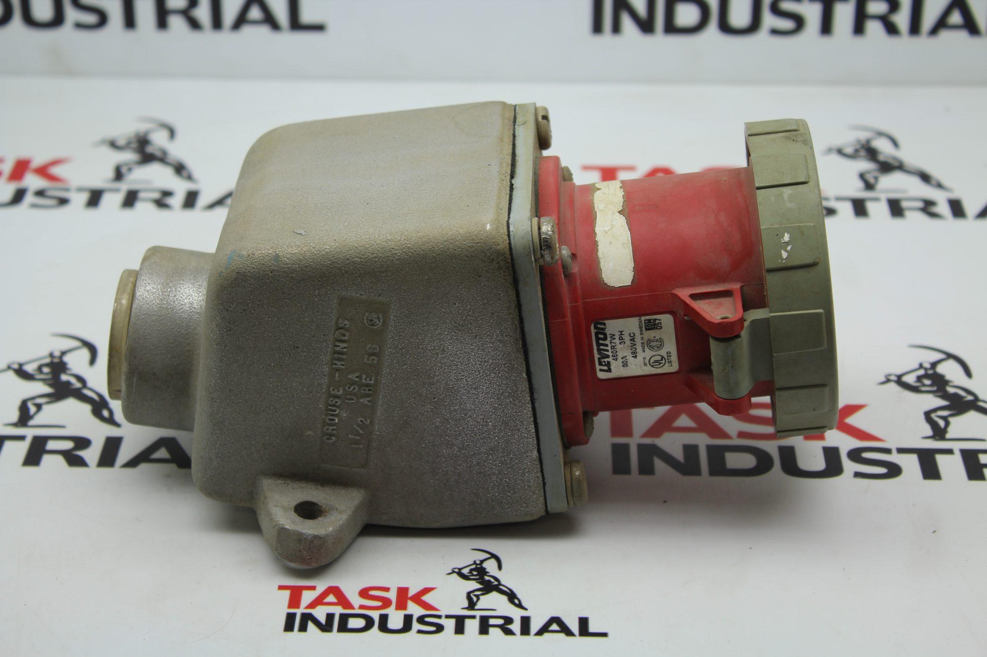 """Leviton 460R7W 60A 3PH 480VAC w/ Crouse-Hinds 1.1/2"""""""