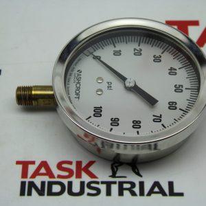 "Ashcroft Industrial Duralife Gauge 1JA17424-022 Size 3-1/2"""