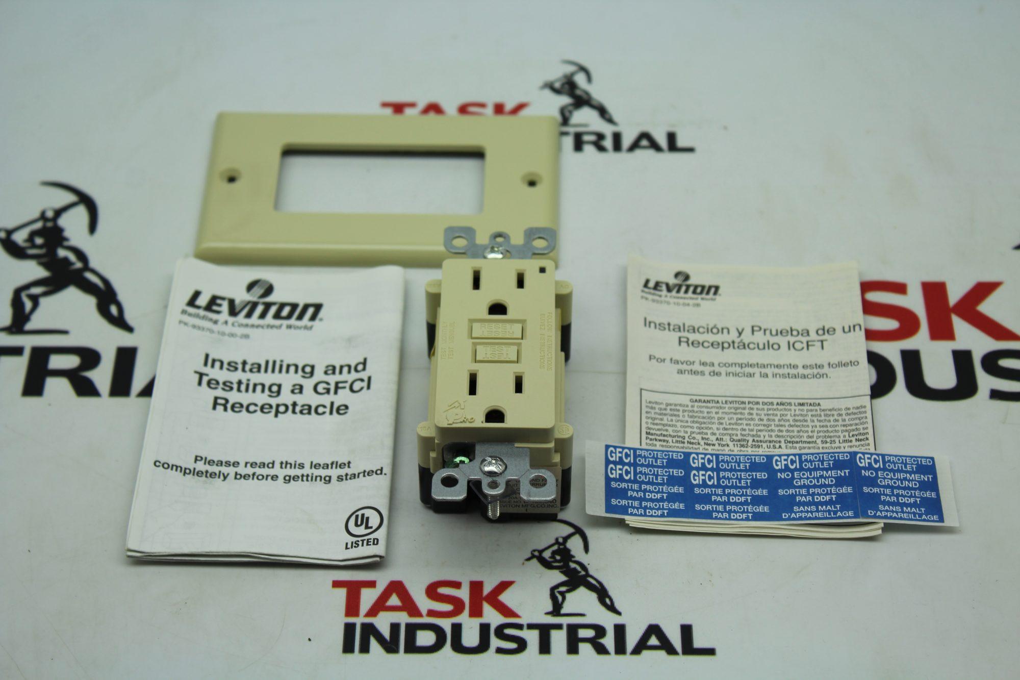 Leviton SmartLock Pro 7599-I Ivory GFCI Lighted 15A-125V