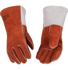 Kinco Premium Split Cowhide with Thumb Strap- Left Hand Only