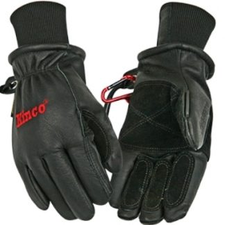 Kinco 900MAX-XL Men's Black Premium Top-Grain Pigskin Leather Ski Gloves (Size: XL)