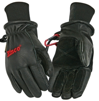 Kinco 900MAX-XL Men's Black Premium Top-Grain Pigskin Leather Ski Gloves (Size: XL)