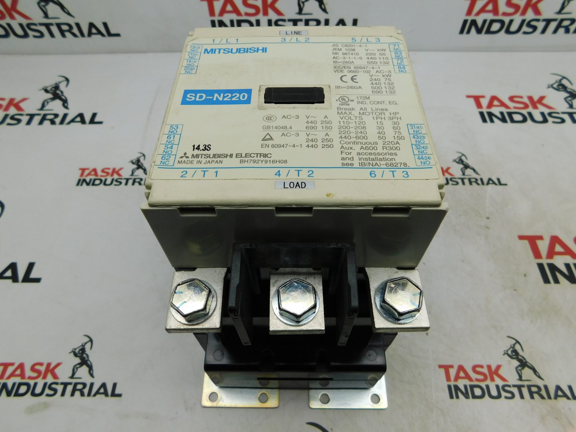 Mitsubishi Magnetic Contactor SD-N220 3 Pole