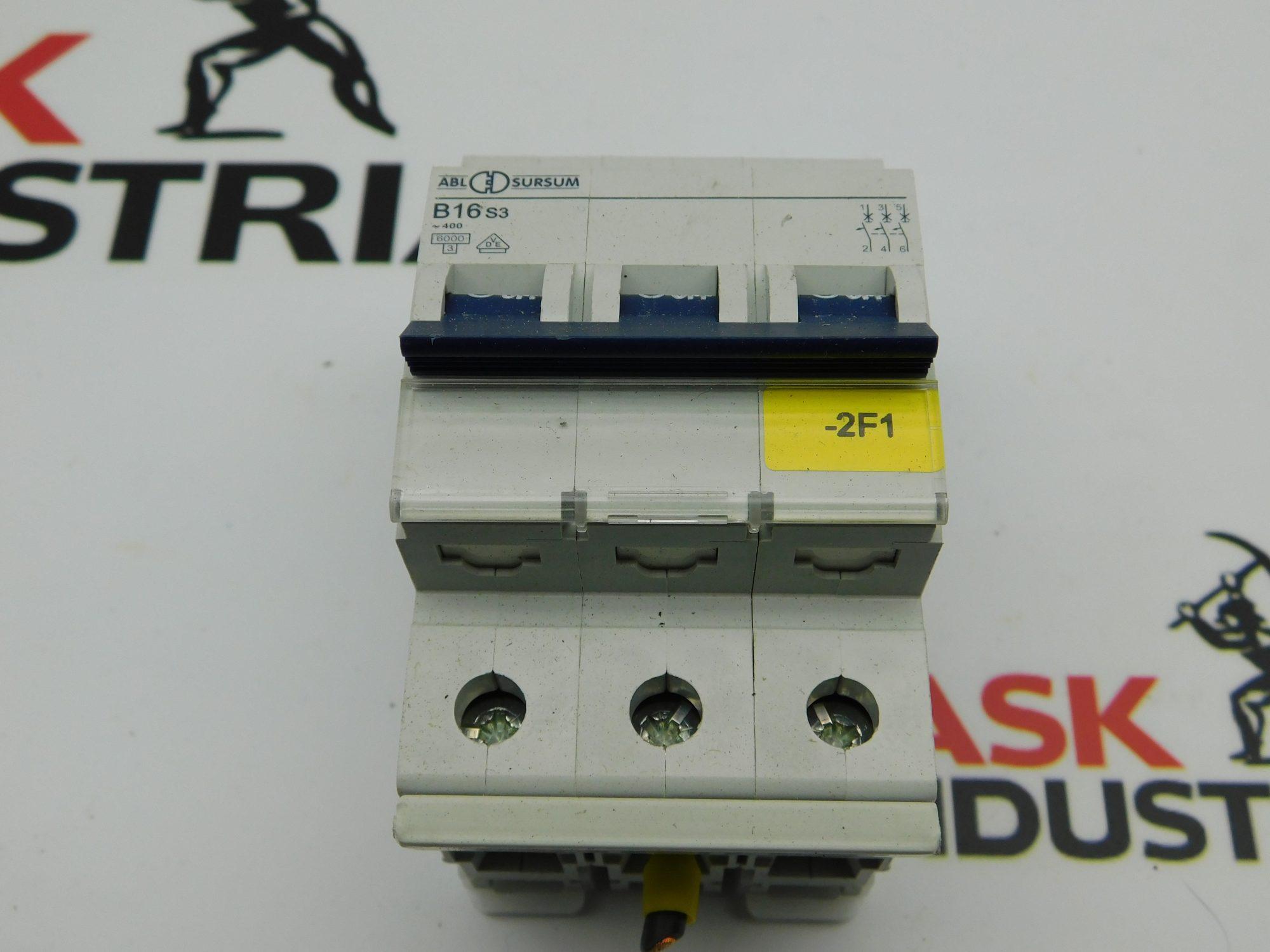 ABL SURSUM B16 S3 3 Pole Circuit Breaker