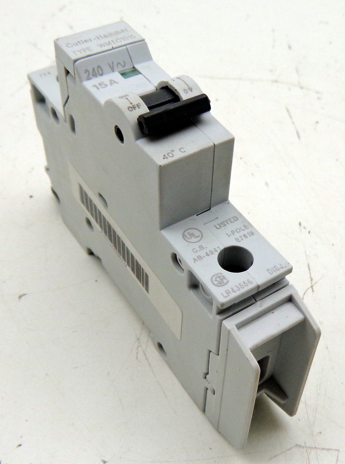 Cutler-Hammer WMTC1015 Circuit Breaker 15A 240V