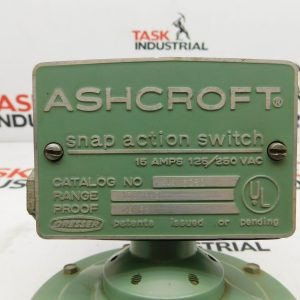 Ashcroft 61S 6080 Snap Action Switch Range:150'' H20 Proof 20PSI 15A 125/250VAC