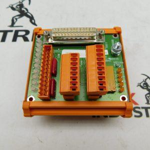 Baldor OPT017-501 Breakout Board I/O DIN Rail (Missing Parts)