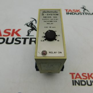 Electromatic SM105 120 Tachometer Relay S-System 120 VAC 0.8-18 Seconds
