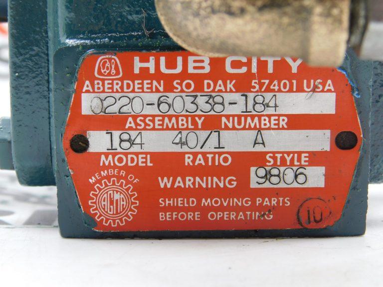 Hub City 0220-60338-184 Ratio 40:1 Gear Reducer