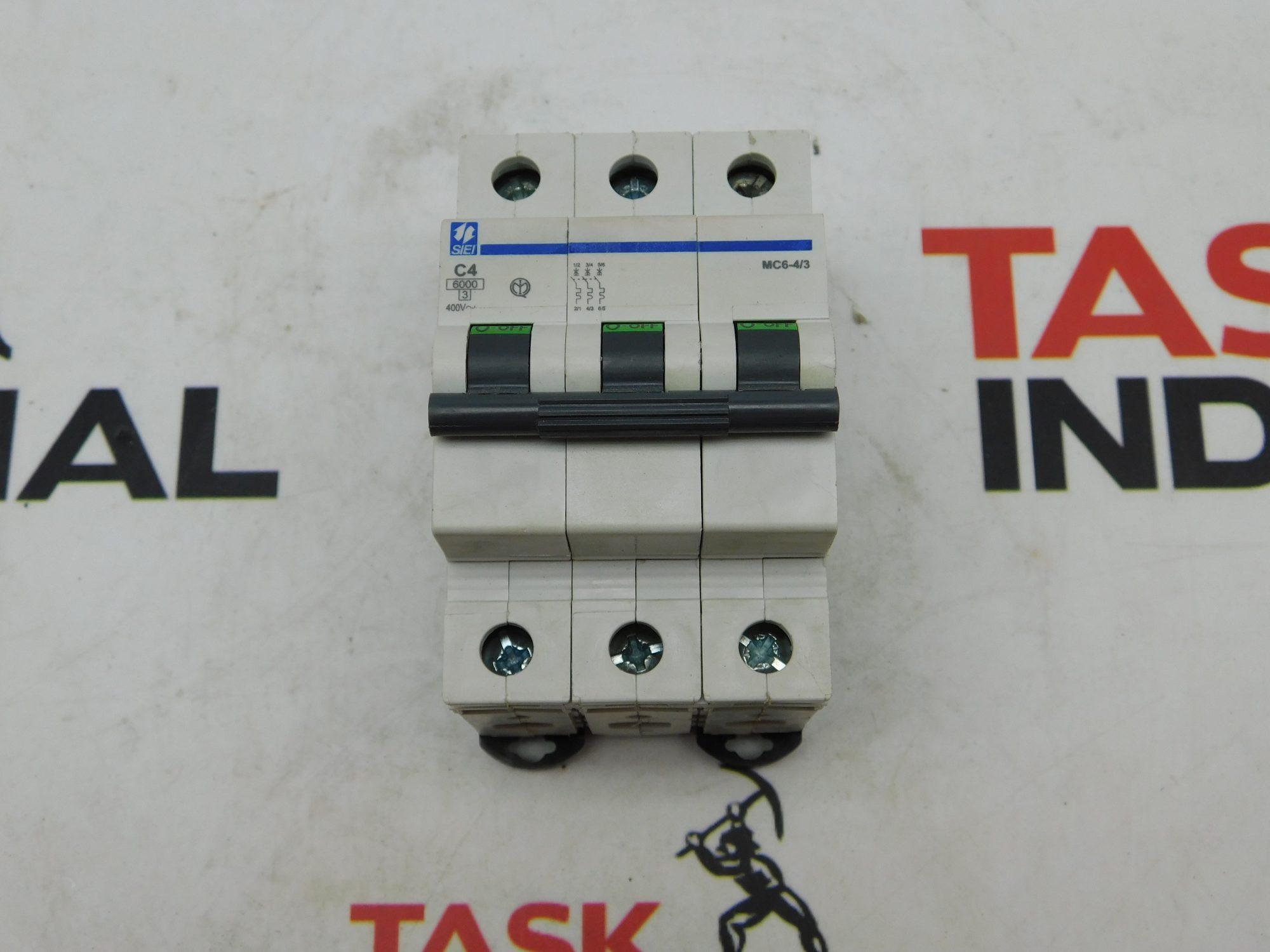 SIEI MC6-4/3 400V 3 Pole Circuit Breaker