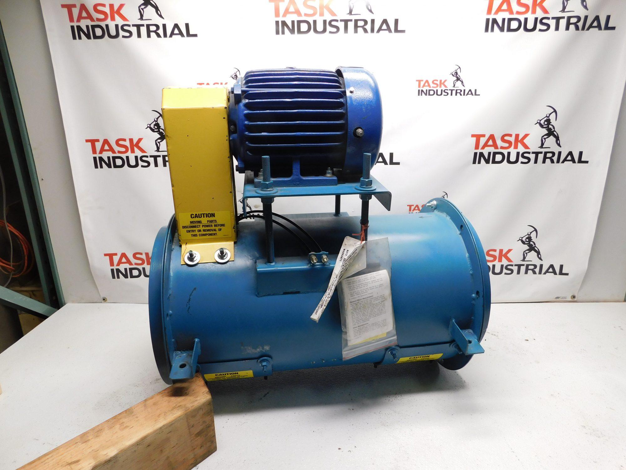 5HP Twin City Fan & Blower w/ TECO HB0052 5HP, 3480 RPM, 184T Frame