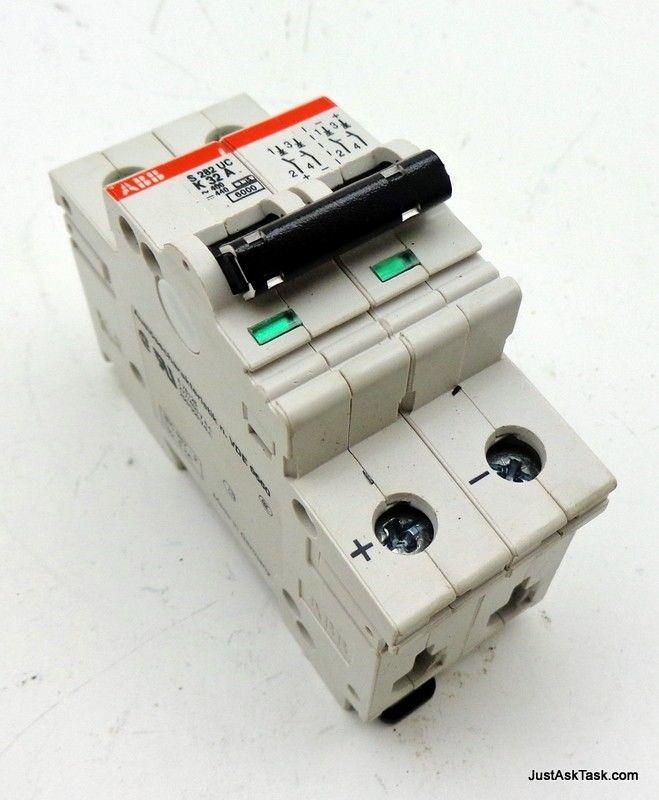 ABB S282 UC K32A Circuit Breaker 32AMP 2-Pole 400VAC
