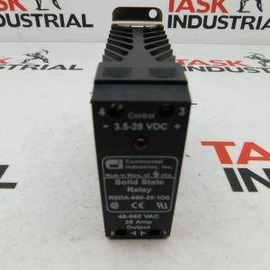 Continental Industries, Inc. RSDA-660-25-1D0 3.5-28 VDC 48-660 VAC 25 AMP Output Solid State Relay