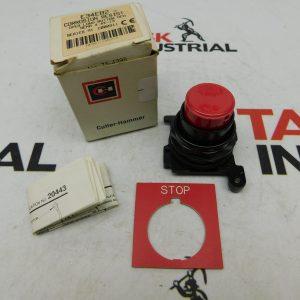 Cutler-Hammer E34EB2 Corrosion resist Oper Long Button Red NEMA 4.4x-13