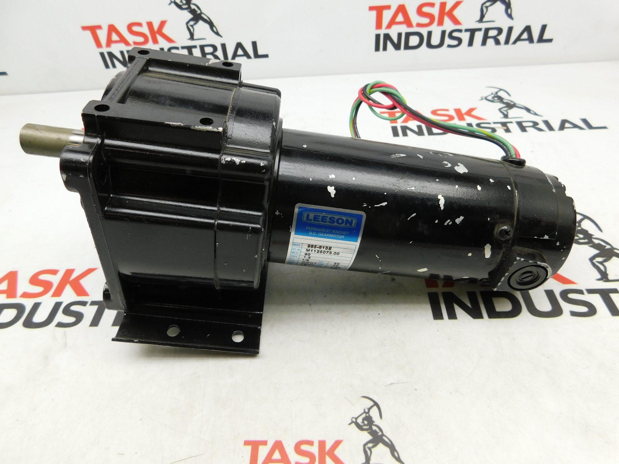 Leeson CAT No. M1125073.00 DC Gear Motor 90V, 1/8HP, TENV
