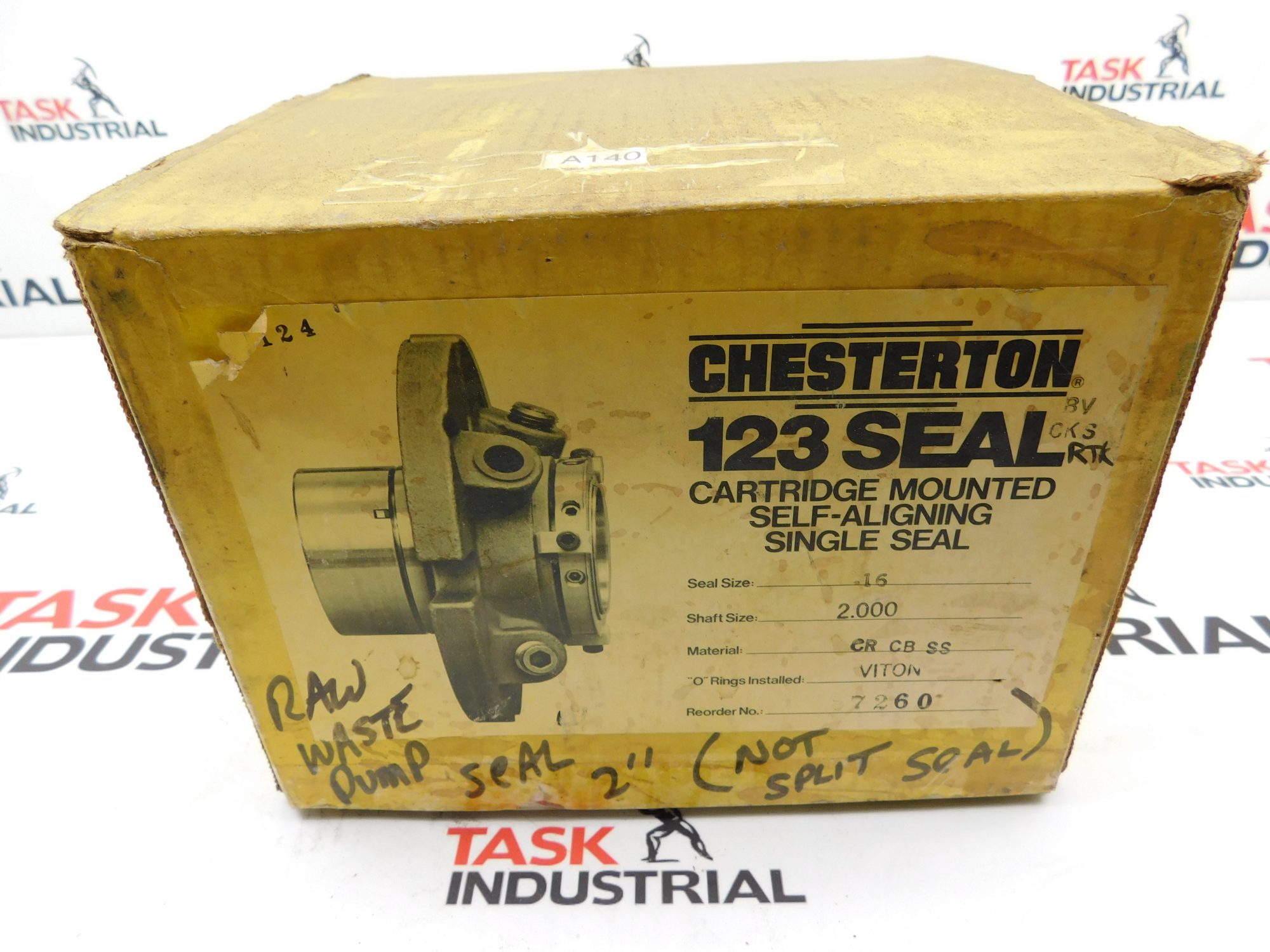 Chesterton 123 Seal Shaft Size 2.000 Seal Size 16 Cartridge Mounted Self-Aligning Single Seal