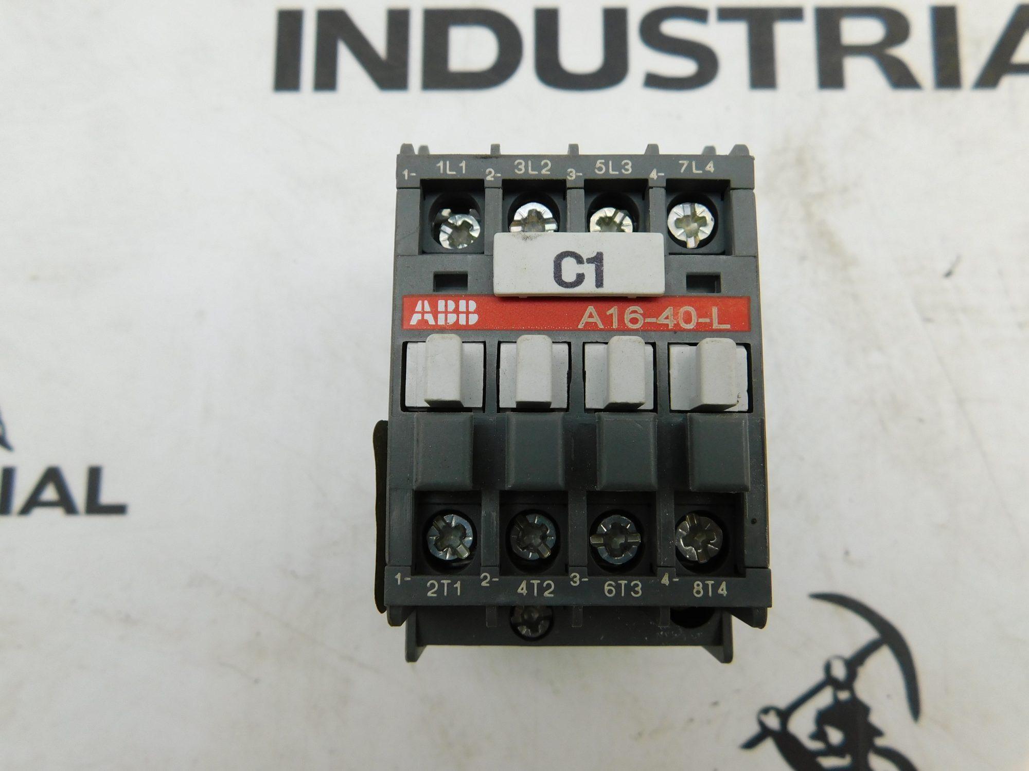 ABB A16-40-L Contactor 30A 4 Pole 600VAC