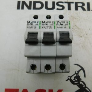 Moeller FAZN S6 250VAC Circuit Breaker Lot of 3