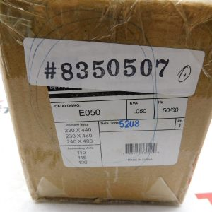 NEW EGS CAT No. E050 Class 105 50/60Hz .050KVA Industrial Control Transformer