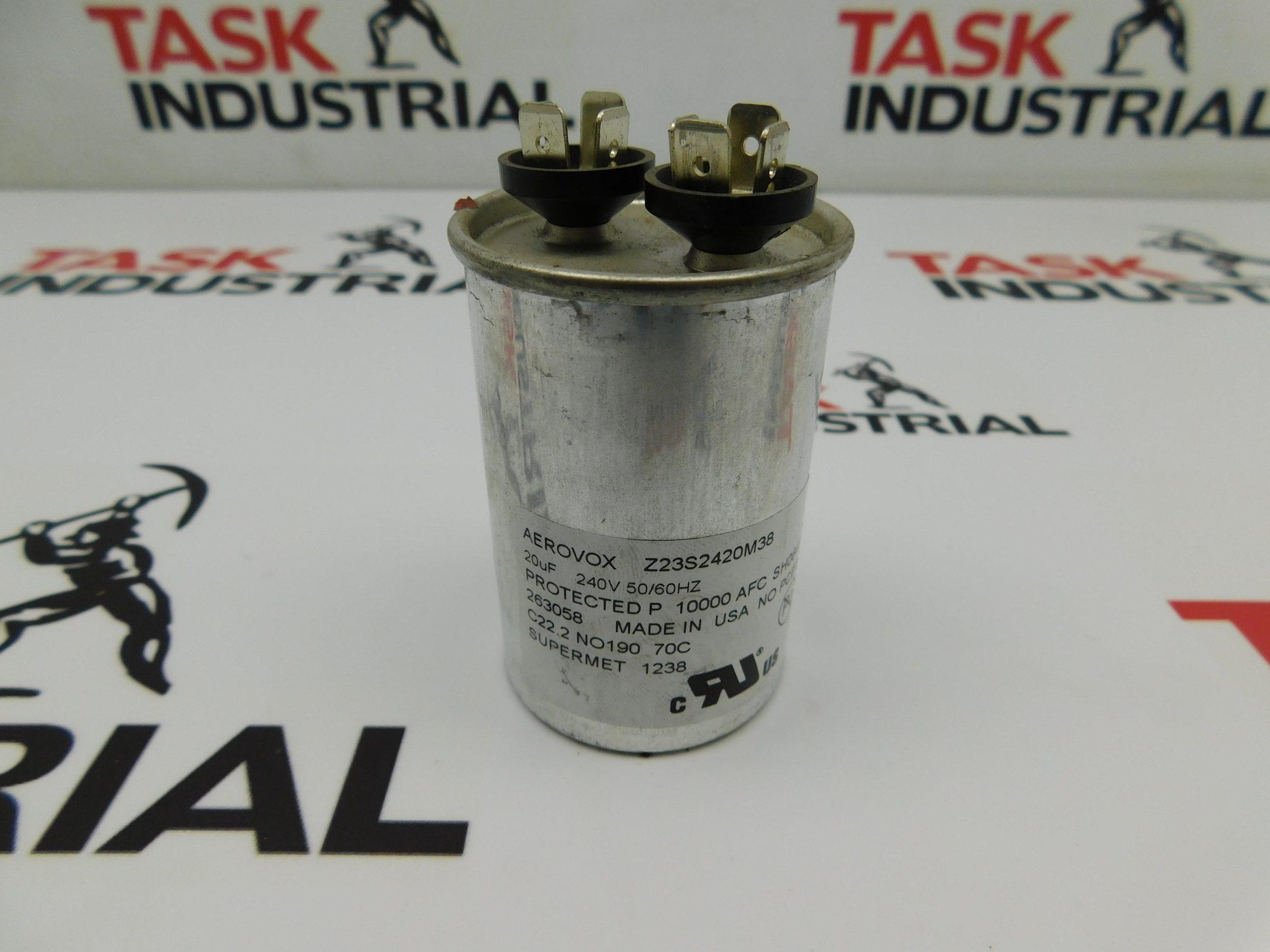 Aervox Z23S2420M38 20UF 240V 50/60Hz Capacitor