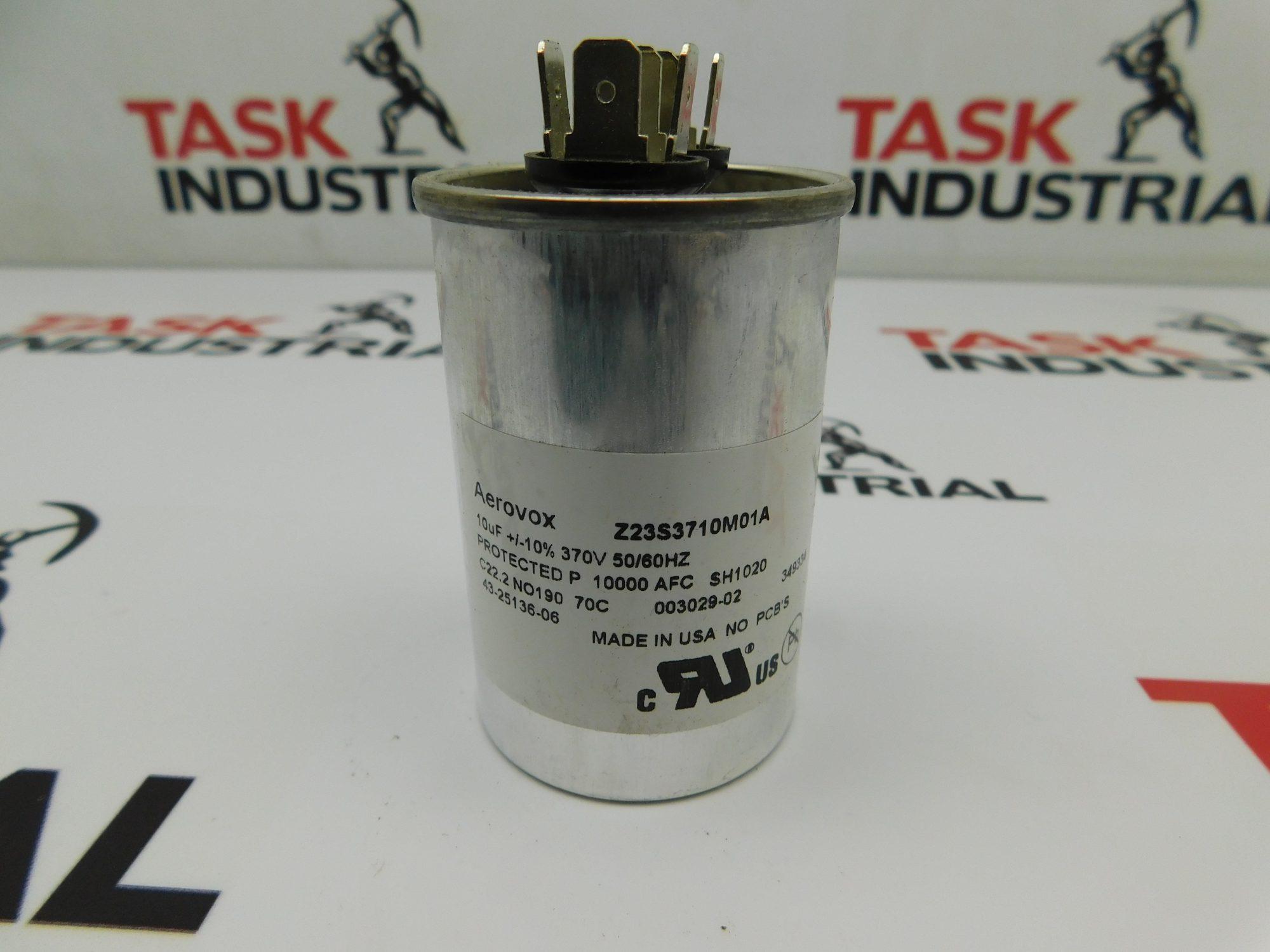 Aerovox Z23S3710M01A 10UF 270V 50/60Hz Capacitor