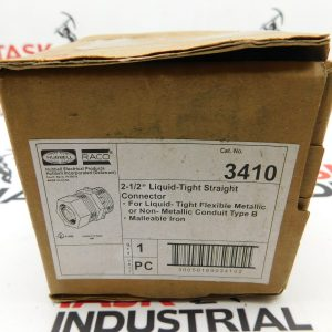 """Hubbell/Raco 3410 2 1/2"""" Liquid-Tight Straight Connector FP"""