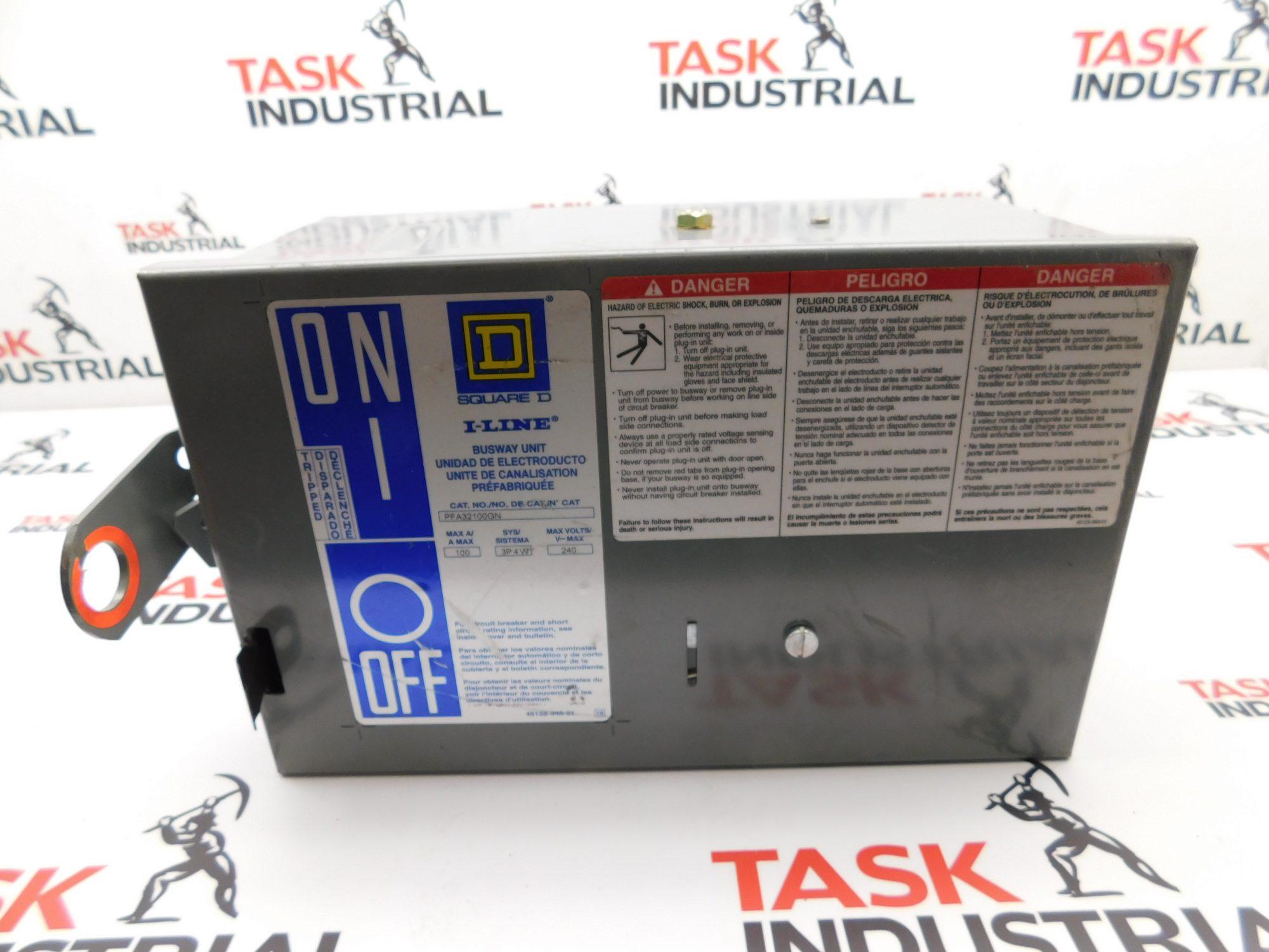 Square D PFA32100GN Plug In Unit, 3 Phase, 4 Wire, 100A, 240V