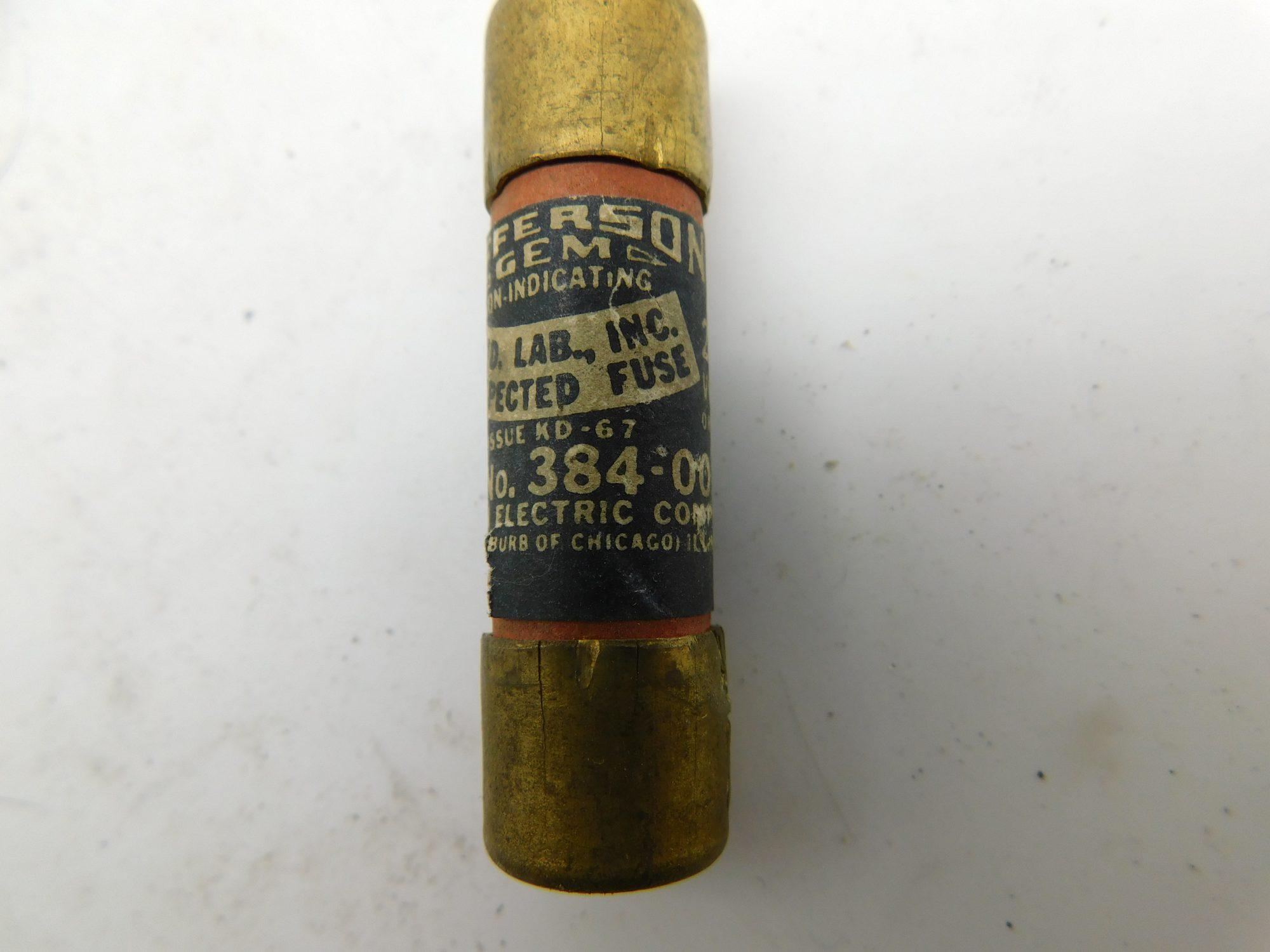 Jefferson 384-003 3A 250V Fuse