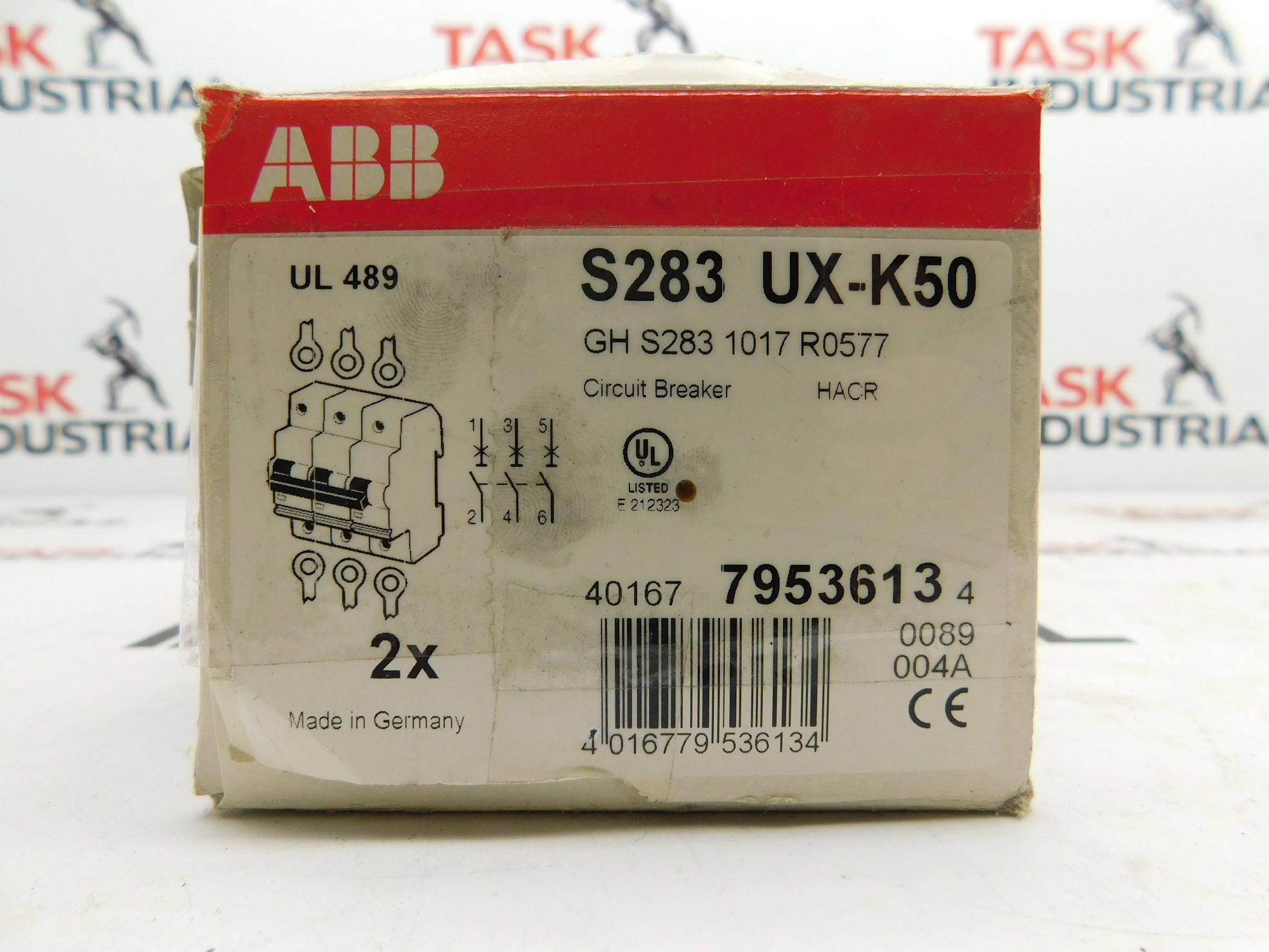 ABB S283 UX-K50 Circuit Breaker 240V 50/60Hz