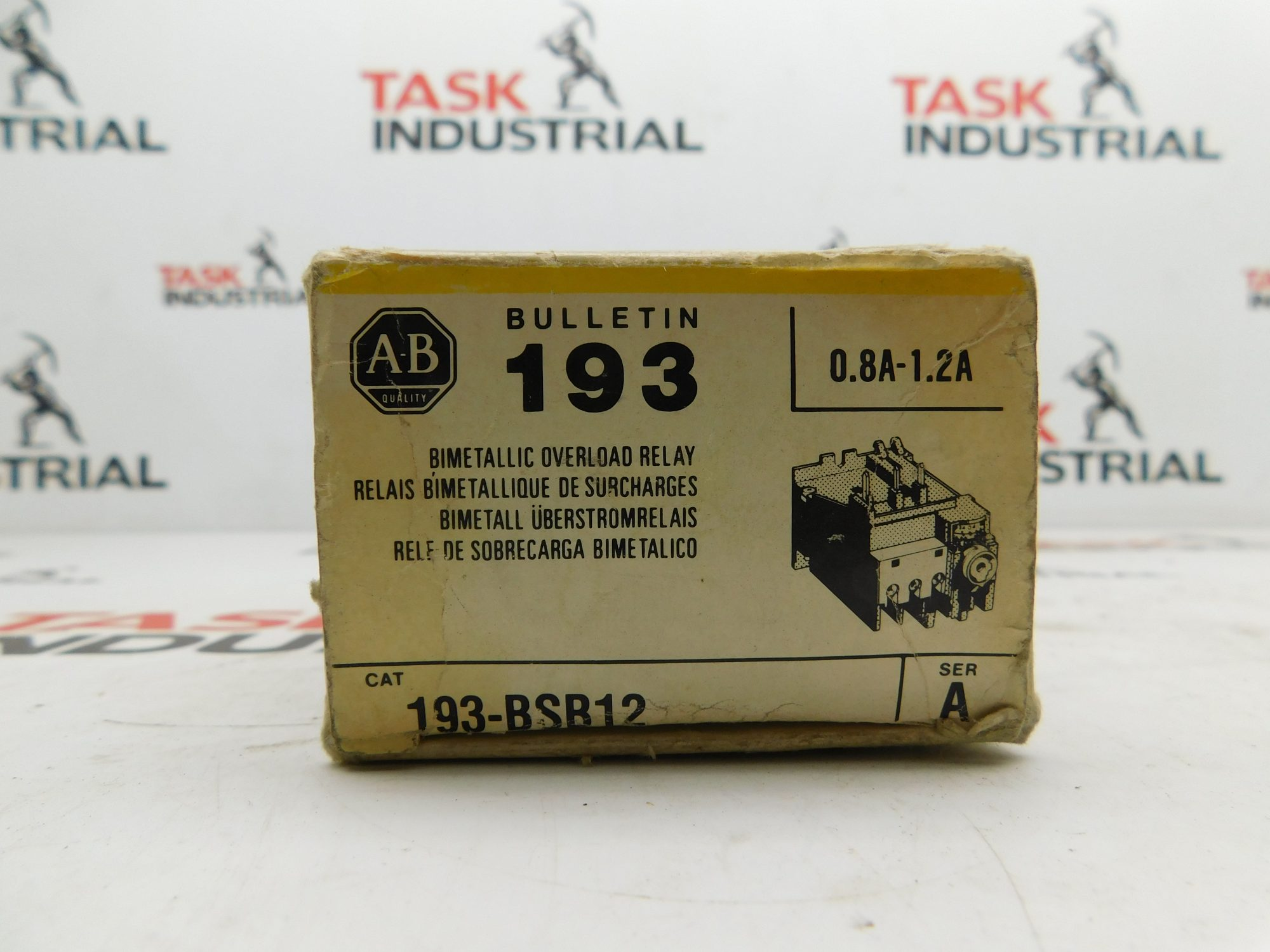 Allen-Bradley CAT No. 193-BSB12 Series A 0.8A-1.2A Overload Relay