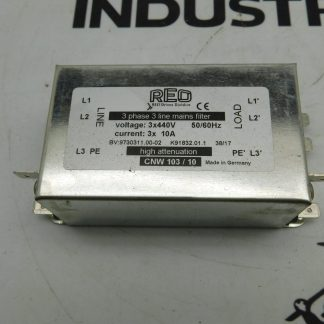 REO CNW 103/10 3x440V 3x10A 50/60Hz 3 Phase Line Filter