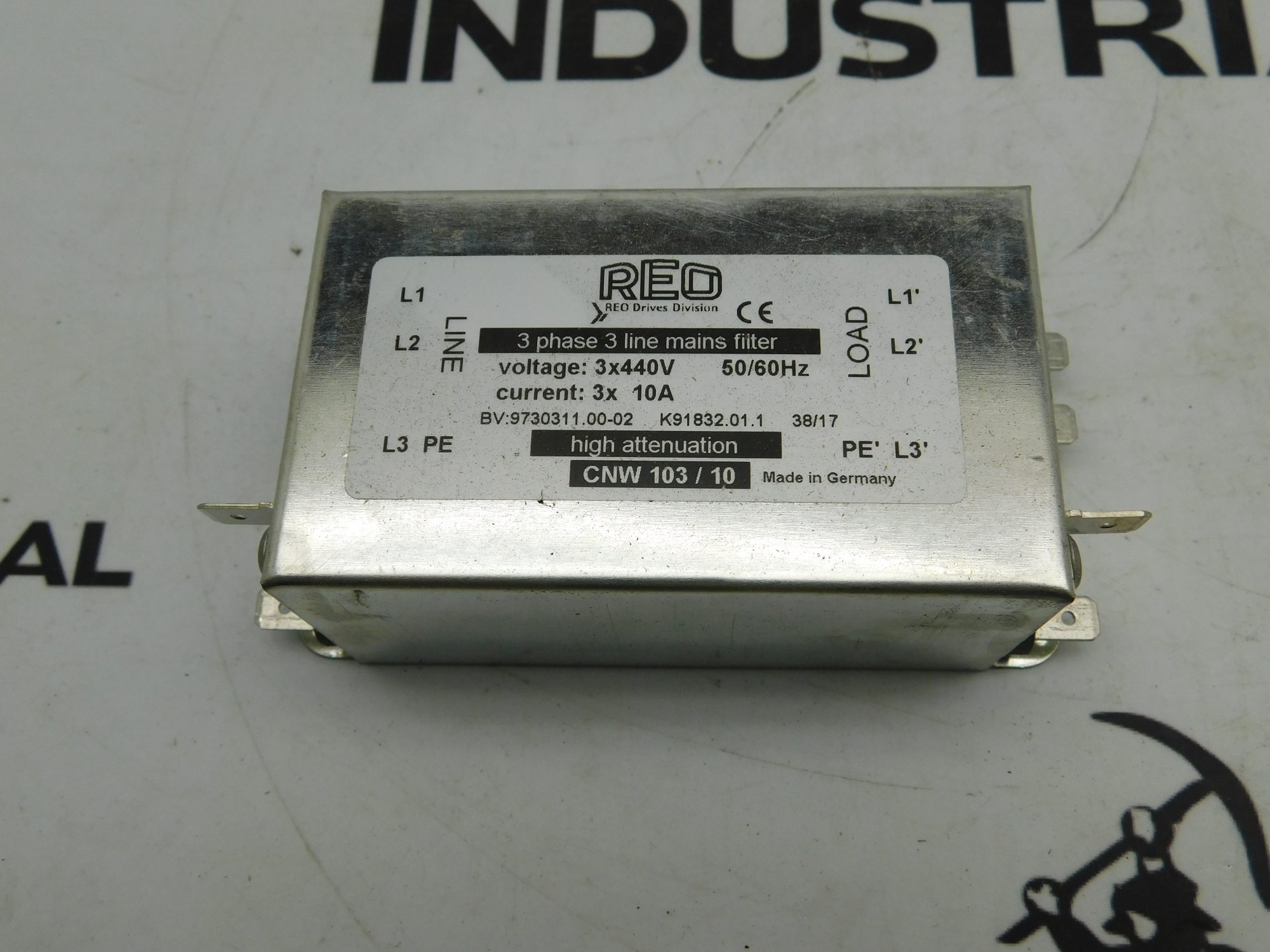 REO CNW 103/10 3x440V 3x10A 50/60Hz 3 Phase Line Filter