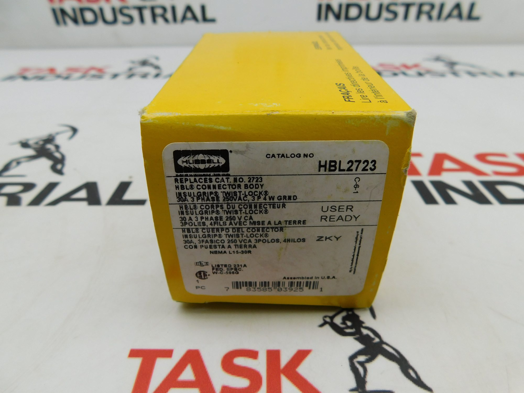 Hubbell CAT No. HBL2723 Connector 30A 3PH 3P 4W