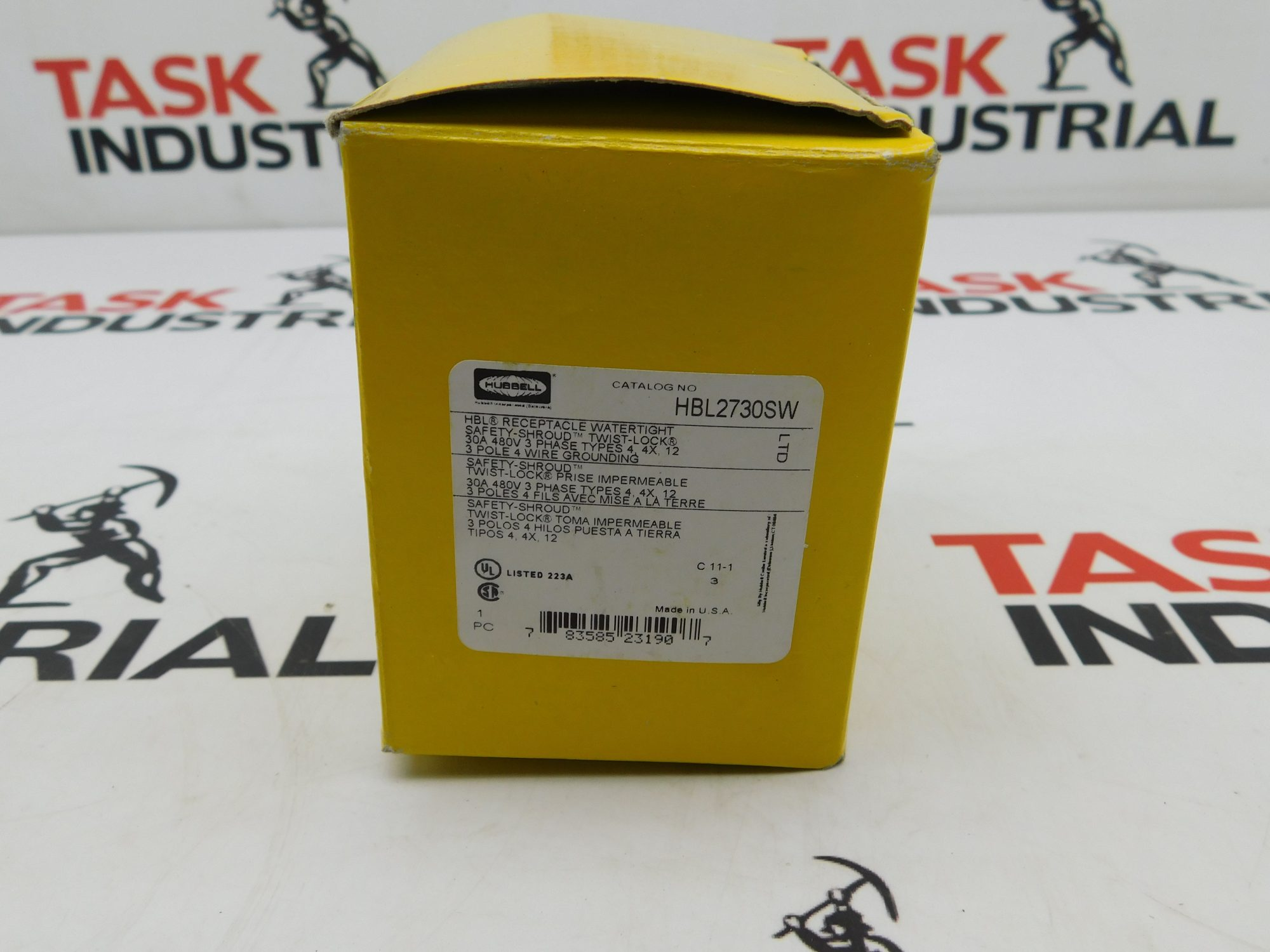 Hubbell CAT No. HBL2730SW Receptacle 30A 480V 3P 4W