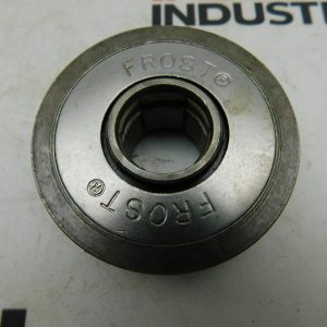 "Frost Conveyor Roller 0973600, Nitrile Sealed, Tread Diameter: 2.268"", Flange Diameter: 2.37, Bore: 11/16"""