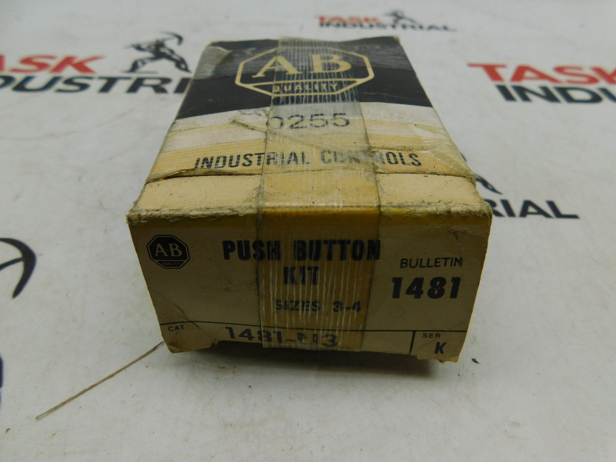 Allen-Bradley CAT No. 1481-N3 Series K Push Button Kit Sizes 3-4