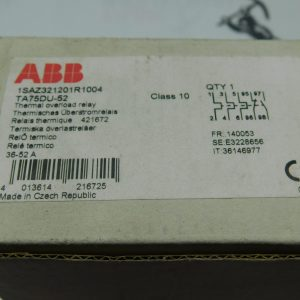ABB 1SAZ321201R1004 TA75DU-52 Thermal Overload Relay