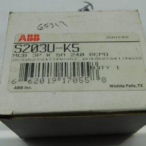 ABB S203U-K5 240VAC 5A Circuit Breaker
