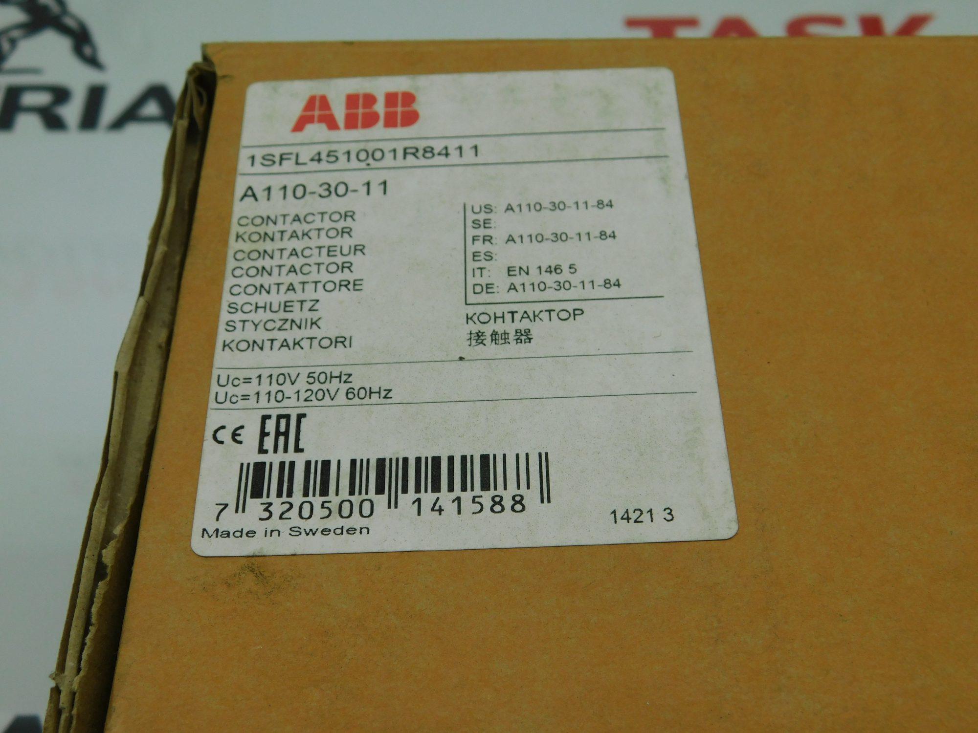 120V//60HZ Coil A110 3P Contactor,110V//50HZ ABB A110-30-11-84