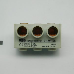 ABB S1-M1-25 3 Phase Power Feed Block 65A Max