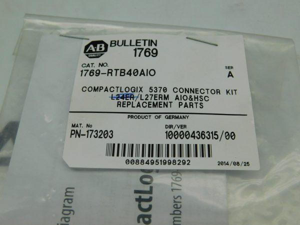 Allen-Bradley CAT No. 1769-RTB40AIO Series A CompactLogix Connector Kit 173203