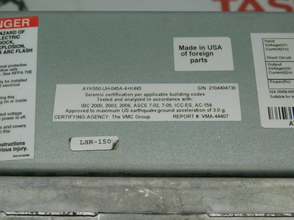 ABB AYK550-UH-045A-4+K465 30HP 45A VFD