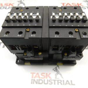 ABB 3P B40 & B40C-* Mechanically Interlocked Contactors 110-120V Coil w/ ABB CAL7-11