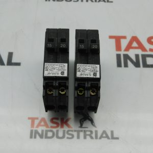 Siemens Q1520 Circuit Breaker Two 1 Pole 15/20 Amp 120/240V Lot of 2