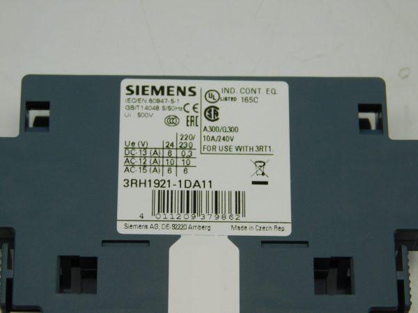 Siemens Auxiliary Switch Block 3RH1921-1DA11 Lot of 3 NEW