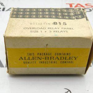 Allen-Bradley Bulletin 815 Overload Relay Panel Size 1